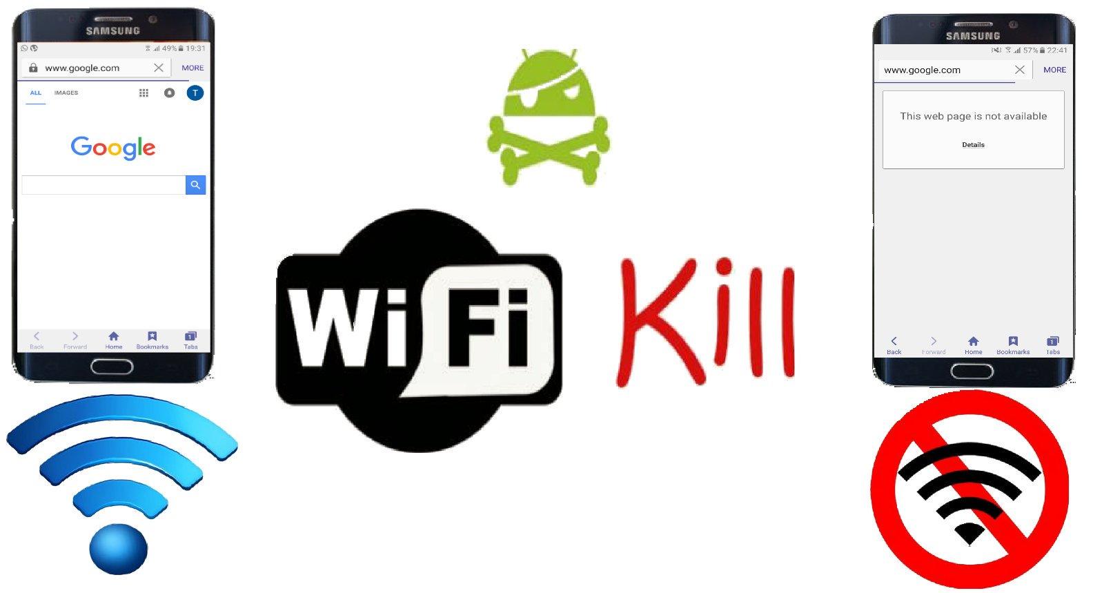 قطع النت عن الاجهزة المتصلة على نفس شبكة wifi