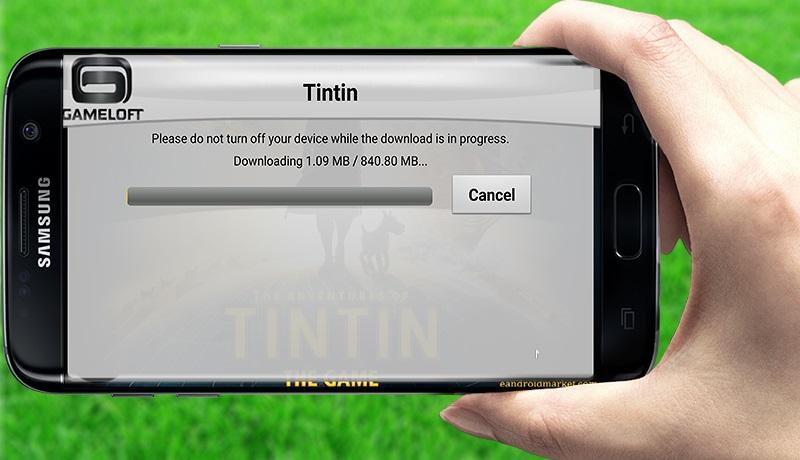 تحميل لعبة مغامرات تن تن  the advanture of tintin للاندرويد مجانا